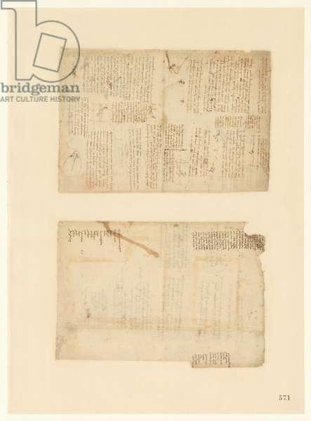 Codex Atlanticus, sheet 571 recto