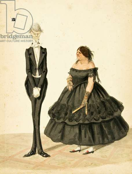 Man and Woman in Evening Clothes