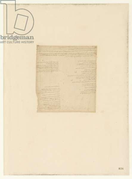 Codex Atlanticus, sheet 826 recto
