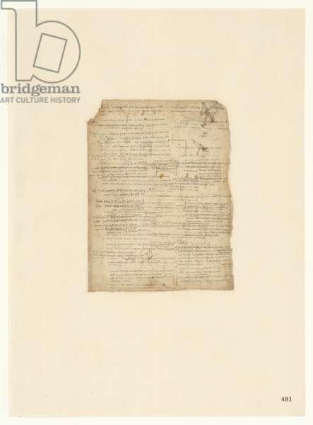 Codex Atlanticus, sheet 481 recto