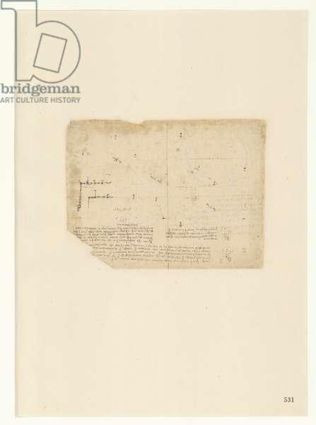 Codex Atlanticus, sheet 531 recto