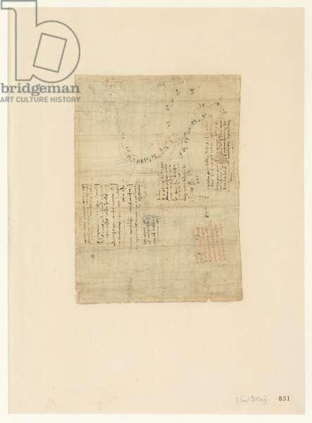 Codex Atlanticus, sheet 831 recto