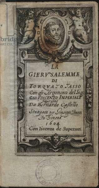 """Frontispiece of """"La Gerusalemme"""" by Torquato Tasso"""