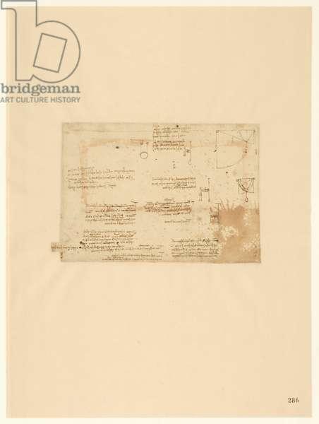 Codex Atlanticus, sheet 286 recto