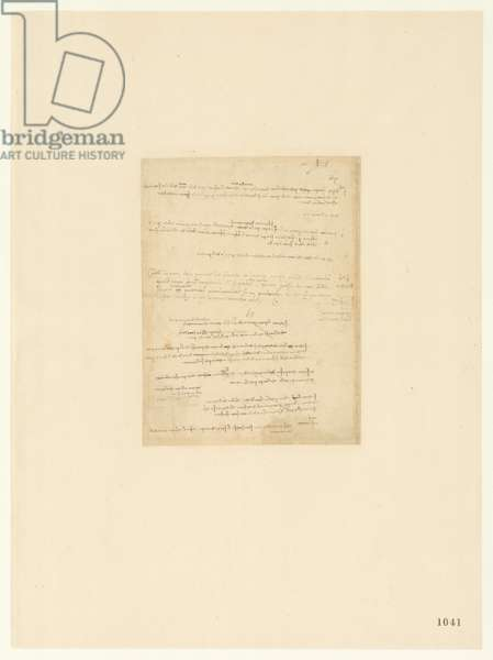 Codex Atlanticus, sheet 1041 recto