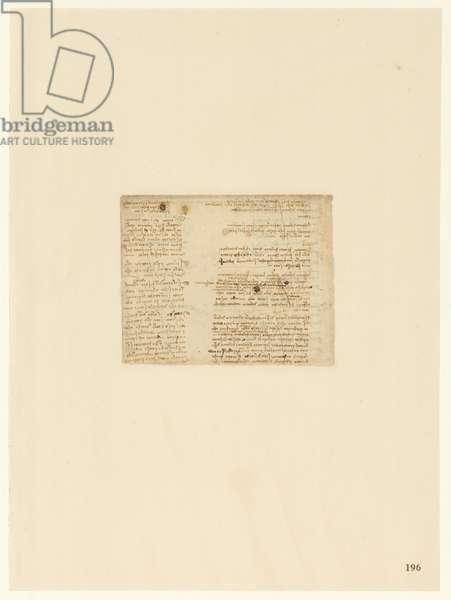 Codex Atlanticus, sheet 196 recto