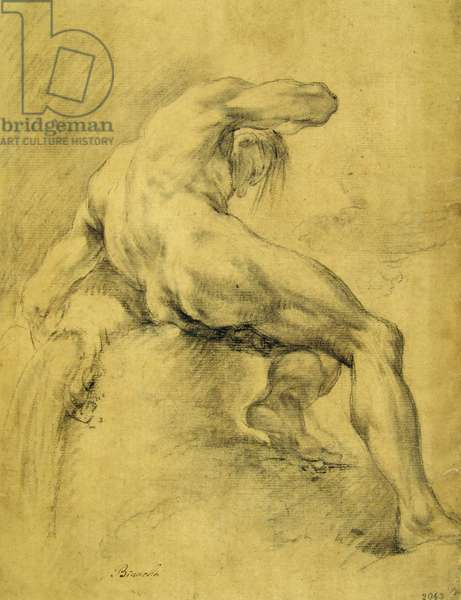 Study for a Deity Sitting by the River