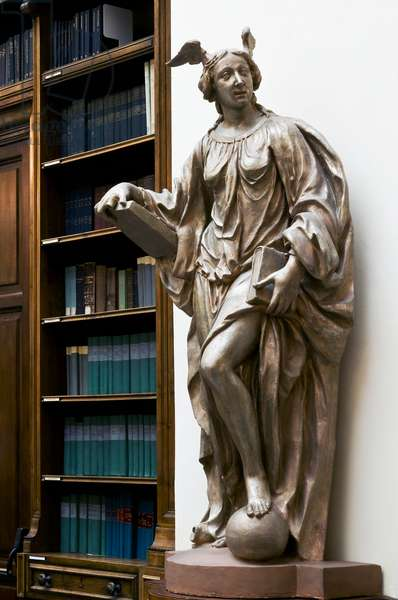 Allegory of Mathematics, c.1673 (terracotta painted as fake bronze)