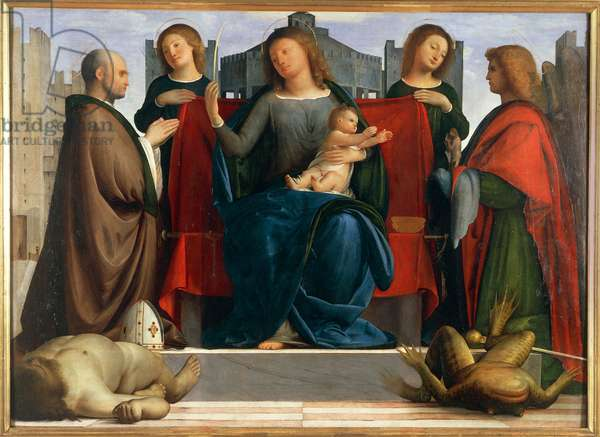Enthroned Madonna with Child between Saint Ambrose and Saint Michael also known as Madonna delle Torri