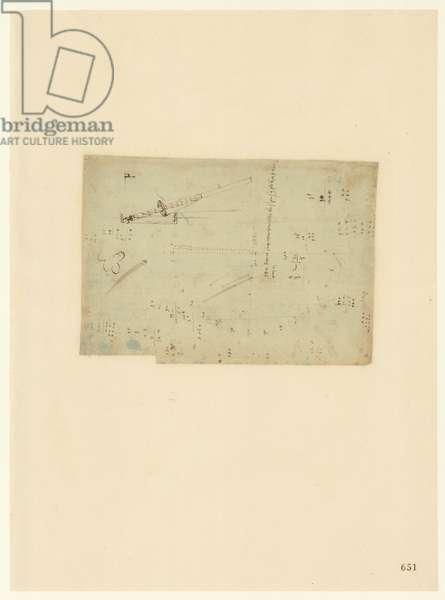 Codex Atlanticus, sheet 651 recto