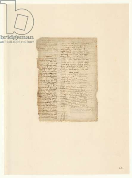 Codex Atlanticus, sheet 461 recto