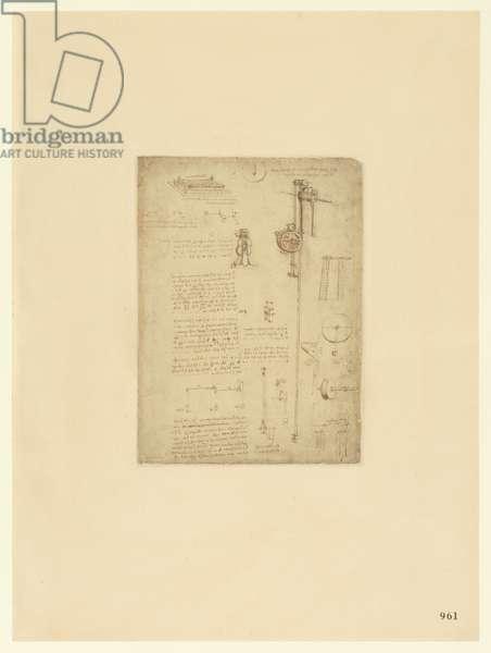 Codex Atlanticus, sheet 961 recto