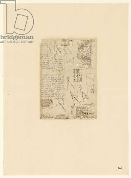 Codex Atlanticus, sheet 566 recto