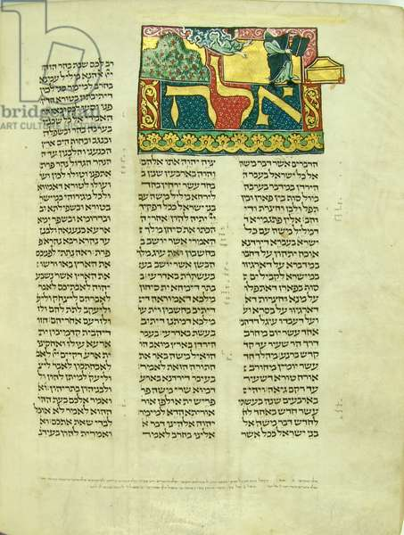 Page from Pentateuchus cum Onquelosi paraphrasi alternis versibus