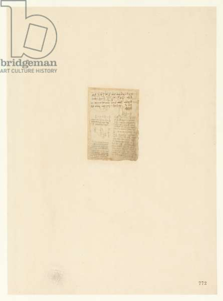 Codex Atlanticus, sheet 772 recto