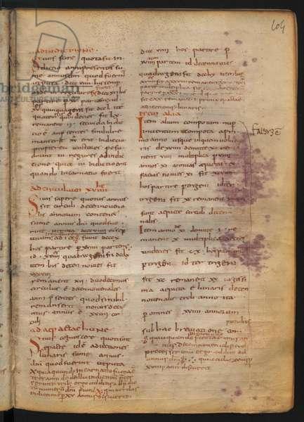 Argumenta Paschalia by Dionysius Exiguus (c.497-545), 801-20 (parchment)