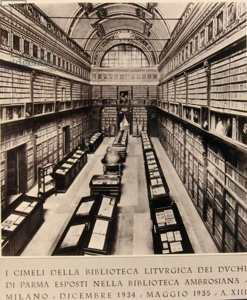 View of the library hall as it was originally and until 1943