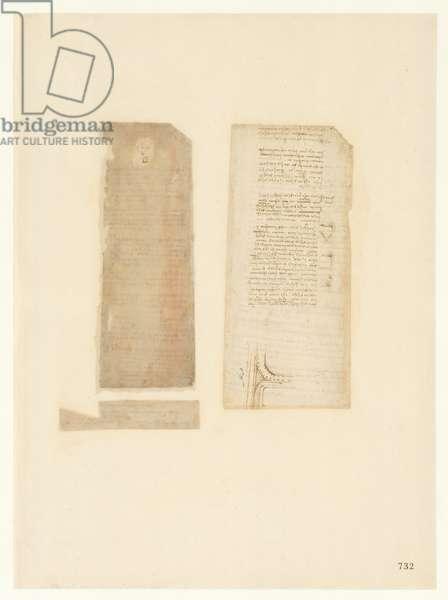 Codex Atlanticus, sheet 732 recto