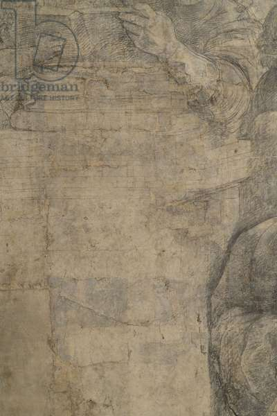 Detail of the preparatory cartoon for The School of Athens, 1510 (charcoal and white lead)
