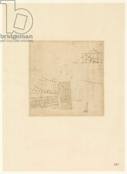 Codex Atlanticus, sheet 587 recto
