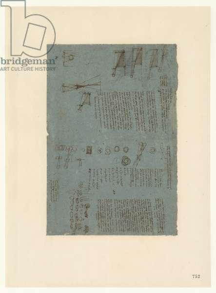Codex Atlanticus, sheet 752 recto