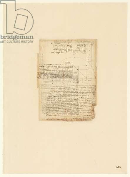 Codex Atlanticus, sheet 607 recto