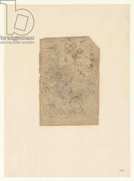 Codex Atlanticus, sheet 757 recto