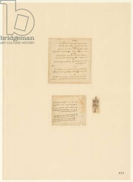 Codex Atlanticus, sheet 612 recto