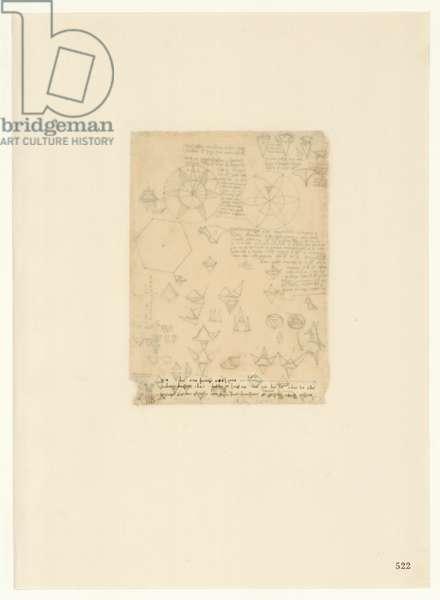 Codex Atlanticus, sheet 522 recto