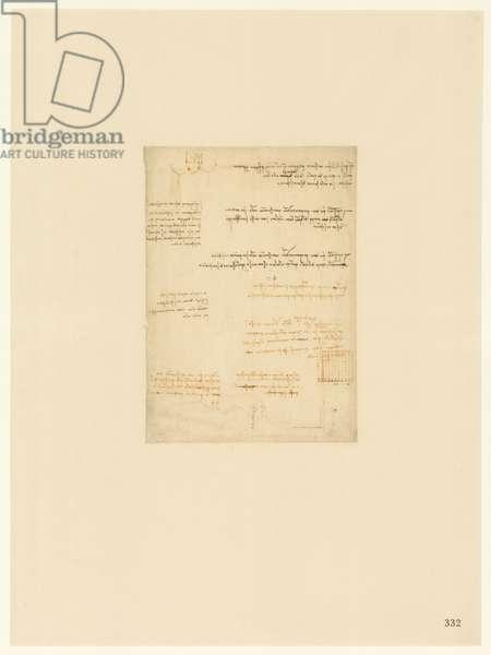 Codex Atlanticus, sheet 332 recto
