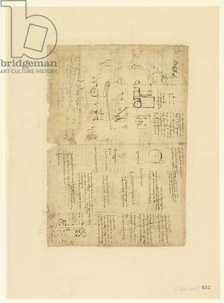 Codex Atlanticus, sheet 832 recto