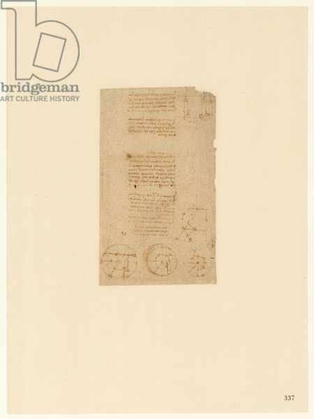 Codex Atlanticus, sheet 337 recto