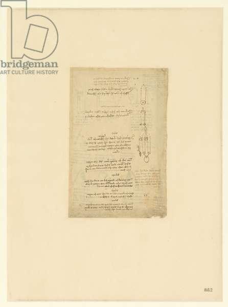 Codex Atlanticus, sheet 882 recto