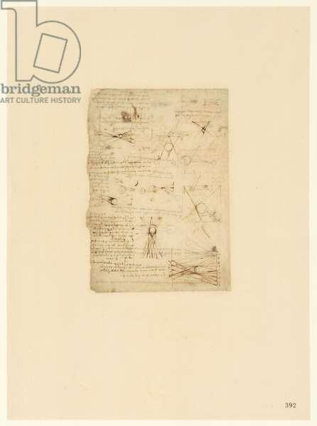Codex Atlanticus, sheet 392 recto