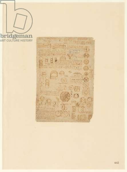 Codex Atlanticus, sheet 442 recto