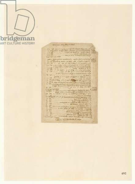 Codex Atlanticus, sheet 492 recto