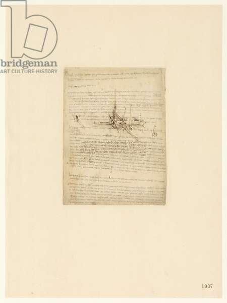 Codex Atlanticus, sheet 1037 recto