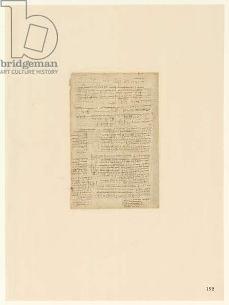 Codex Atlanticus, sheet 192 recto