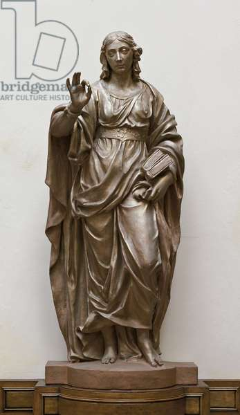 Allegory of Jurisprudence, c.1673 (terracotta painted as fake bronze)