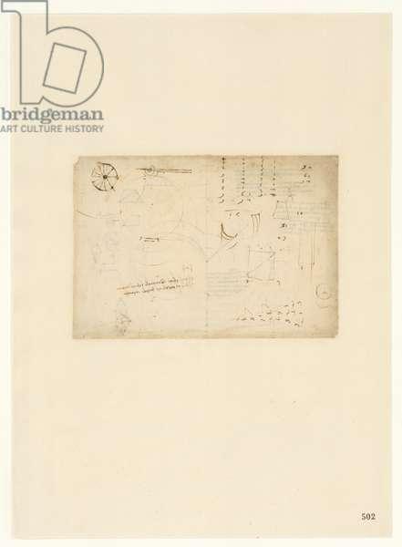 Codex Atlanticus, sheet 502 recto