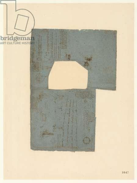Codex Atlanticus, sheet 1047 recto