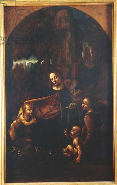 The Virgin of the Rocks, after Leonardo da Vinci (1452-1519), c.1611-18 (oil on panel)