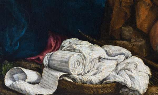 Bandages in a Basket, detail from The Rest on the Flight into Egypt, 1547 (oil on canvas)