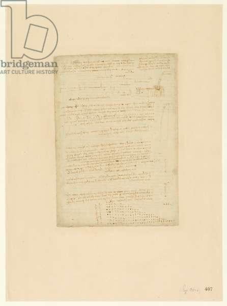 Codex Atlanticus, sheet 407 recto