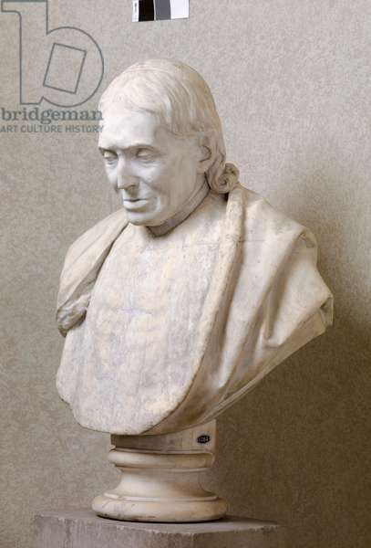 Bust of an Ecclesiastic, 1854 (marble)