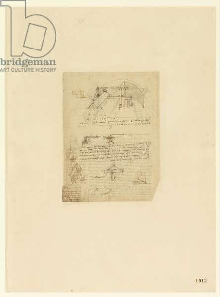Codex Atlanticus, sheet 1012 recto
