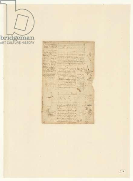 Codex Atlanticus, sheet 517 recto