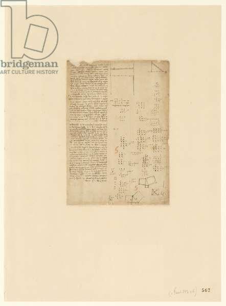 Codex Atlanticus, sheet 567 recto