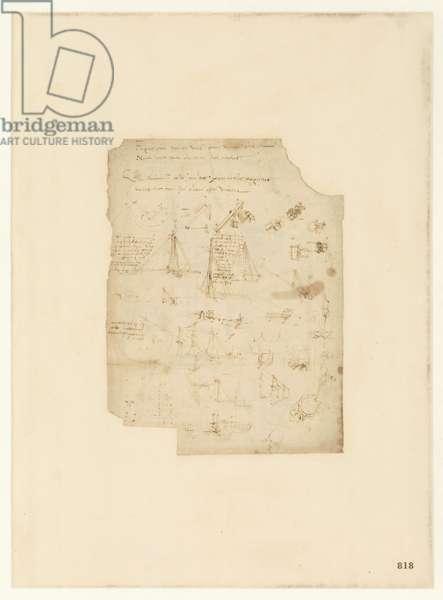 Codex Atlanticus, sheet 818 recto