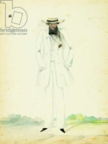 Man in Walking Suit